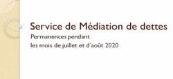 03/07 - Service de Médiation de dettes : permanences...