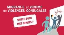 """01/11 - Brochure """"Migrant-e et victime de violences conjugales : quels sont mes droits"""""""